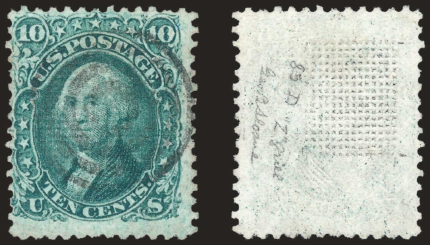 Price of US Stamps Scott Catalogue 85D - 1867 10c Washington Grill. Robert Siegel Auction Galleries, Dec 2008, Sale 967, Lot 4190