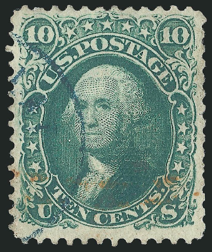 Value of US Stamp Scott # 85D: 1867 10c Washington Grill. Robert Siegel Auction Galleries, Jun 2015, Sale 1106, Lot 3103