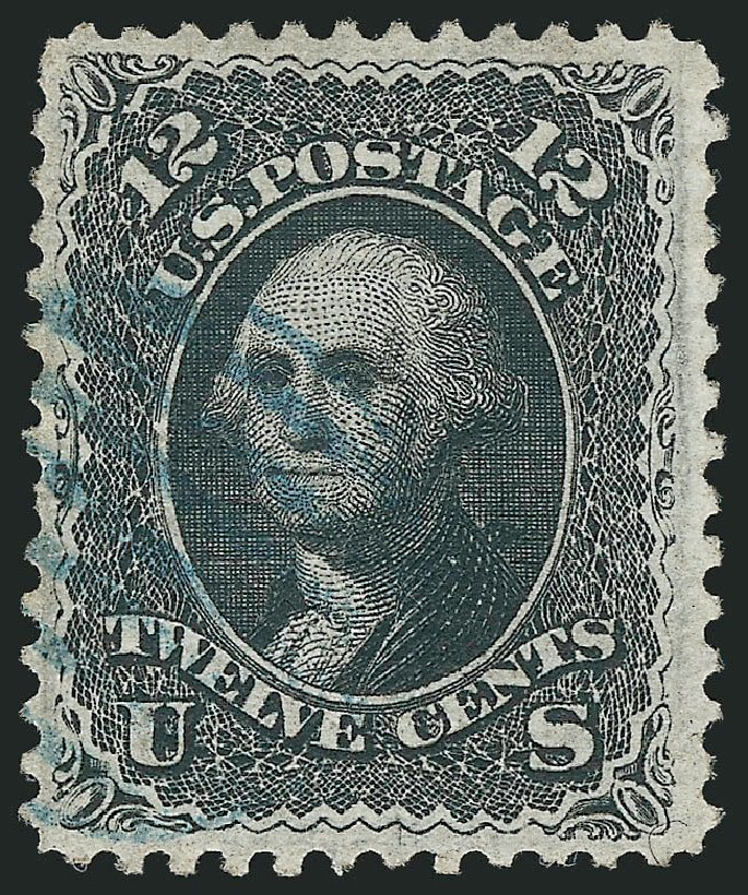 US Stamp Prices Scott Catalogue 85E - 12c 1868 Washington Grill. Robert Siegel Auction Galleries, Apr 2015, Sale 1096, Lot 167