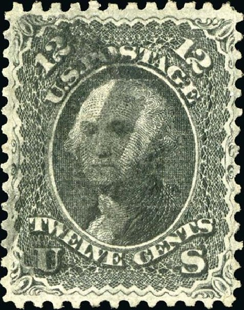 Values of US Stamp Scott Catalogue #85E: 1868 12c Washington Grill. Spink Shreves Galleries, Jan 2015, Sale 150, Lot 87