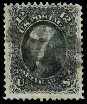 Costs of US Stamp Scott Catalog #85E: 1868 12c Washington Grill. Daniel Kelleher Auctions, Aug 2015, Sale 672, Lot 2288