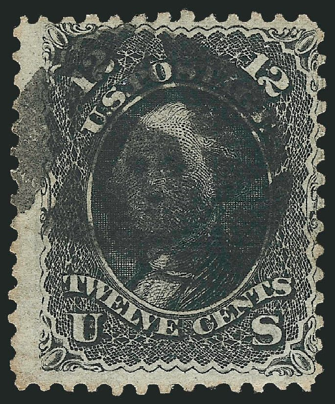 US Stamp Value Scott Cat. #85E: 1868 12c Washington Grill. Robert Siegel Auction Galleries, Jun 2015, Sale 1100, Lot 18