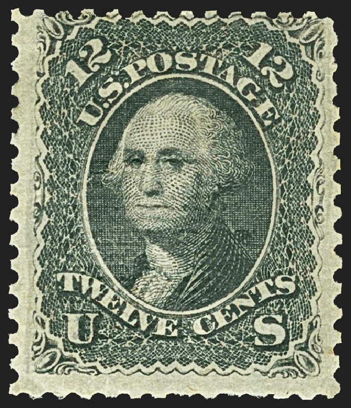 US Stamps Values Scott 85E - 12c 1868 Washington Grill. Robert Siegel Auction Galleries, Jul 2015, Sale 1107, Lot 198