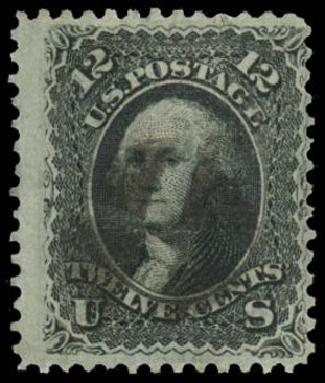 US Stamp Value Scott Cat. #85E - 1868 12c Washington Grill. Daniel Kelleher Auctions, Jan 2015, Sale 663, Lot 1311