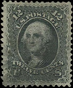 US Stamp Values Scott Cat. #85E: 1868 12c Washington Grill. Regency-Superior, Aug 2015, Sale 112, Lot 194
