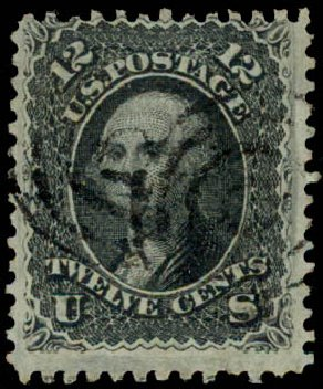 Values of US Stamp Scott Catalog 85E - 12c 1868 Washington Grill. Daniel Kelleher Auctions, May 2015, Sale 669, Lot 2535