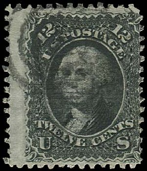 US Stamp Price Scott Catalog # 85E: 1868 12c Washington Grill. Regency-Superior, Jan 2015, Sale 109, Lot 695