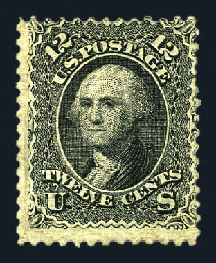 Prices of US Stamps Scott # 85E: 12c 1868 Washington Grill. Harmer-Schau Auction Galleries, Aug 2015, Sale 106, Lot 1432