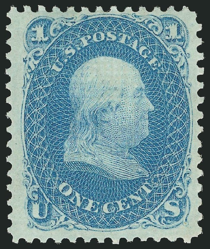 Cost of US Stamp Scott 86 - 1867 1c Franklin Grill. Robert Siegel Auction Galleries, Dec 2014, Sale 1090, Lot 1220