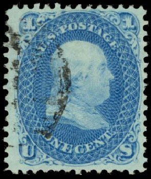 Us Stamps Value Scott Catalogue 86 1867 1c Franklin Grill
