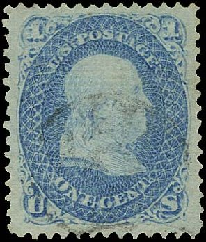 Costs of US Stamps Scott Catalogue 86: 1c 1867 Franklin Grill. Regency-Superior, Aug 2015, Sale 112, Lot 195