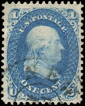 Prices of US Stamp Scott Catalog #86: 1867 1c Franklin Grill. Regency-Superior, Jan 2015, Sale 109, Lot 696