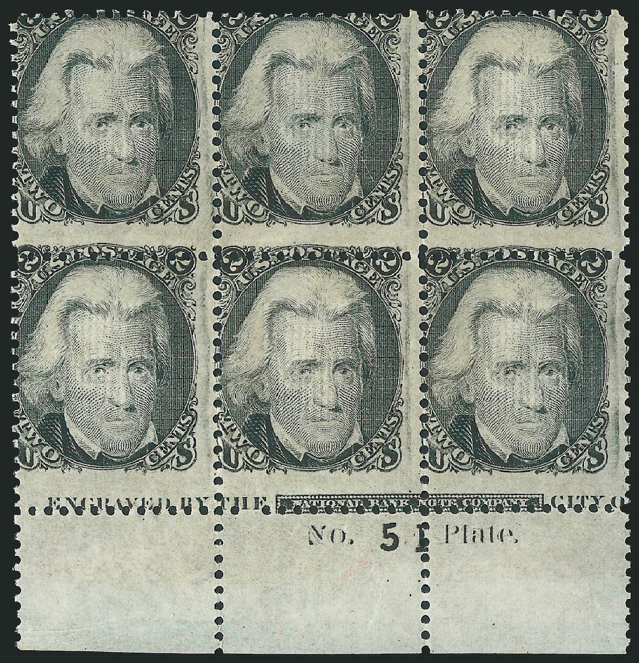 US Stamps Price Scott Catalog #87 - 1868 2c Jackson Grill. Robert Siegel Auction Galleries, Nov 2014, Sale 1084, Lot 3259