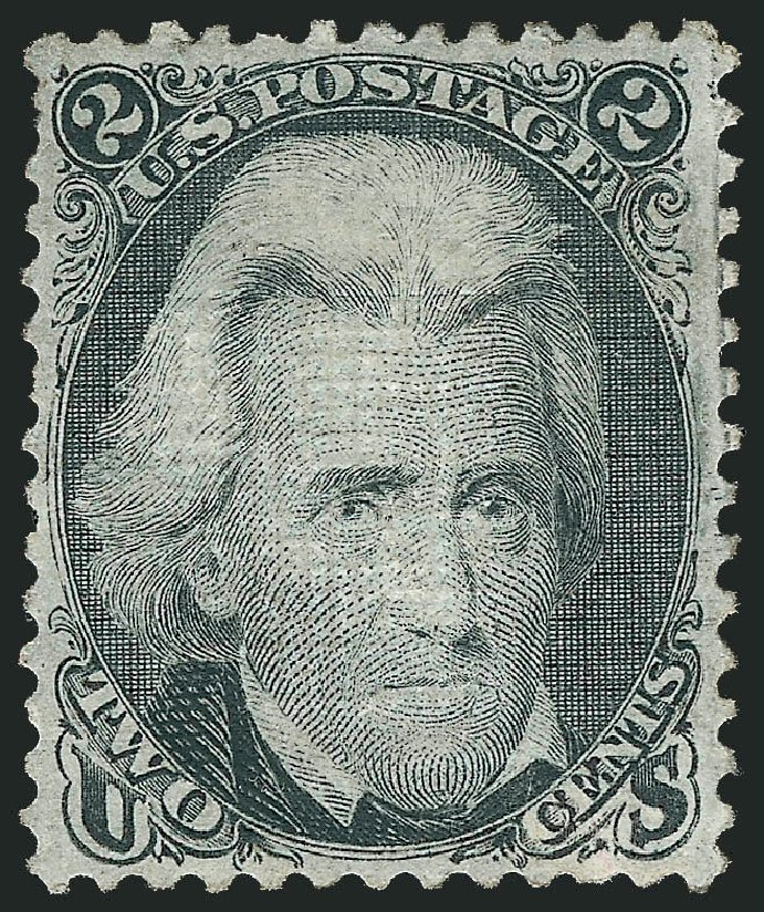 Values of US Stamp Scott 87 - 1868 2c Jackson Grill. Robert Siegel Auction Galleries, Jun 2015, Sale 1100, Lot 19