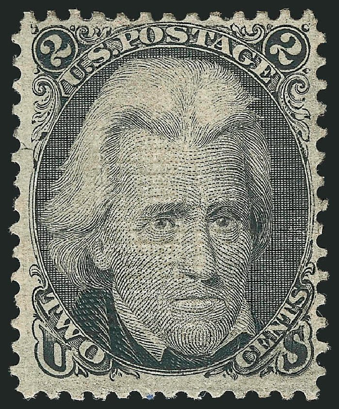 Value of US Stamps Scott 87: 1868 2c Jackson Grill. Robert Siegel Auction Galleries, Apr 2015, Sale 1096, Lot 170