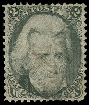 Values of US Stamps Scott Cat. # 87 - 1868 2c Jackson Grill. H.R. Harmer, Oct 2014, Sale 3006, Lot 1134