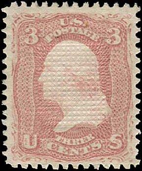 US Stamp Price Scott # 88: 1868 3c Washington Grill. Regency-Superior, Aug 2015, Sale 112, Lot 198