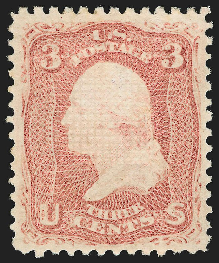 Costs of US Stamps Scott Catalogue #88: 3c 1868 Washington Grill. Robert Siegel Auction Galleries, Jul 2015, Sale 1107, Lot 199