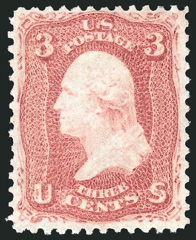 US Stamp Prices Scott Cat. # 88 - 3c 1868 Washington Grill. Robert Siegel Auction Galleries, Apr 2015, Sale 1096, Lot 171