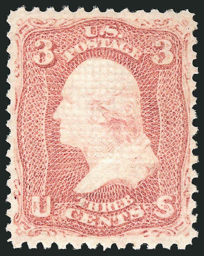 US Stamps Value Scott Catalogue 88: 1868 3c Washington Grill. Robert Siegel Auction Galleries, Dec 2014, Sale 1090, Lot 1222