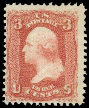 US Stamps Value Scott Cat. # 88: 1868 3c Washington Grill. Daniel Kelleher Auctions, Jan 2015, Sale 663, Lot 1313