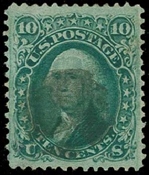 Cost of US Stamp Scott 89: 10c 1868 Washington Grill. H.R. Harmer, Jun 2015, Sale 3007, Lot 3168