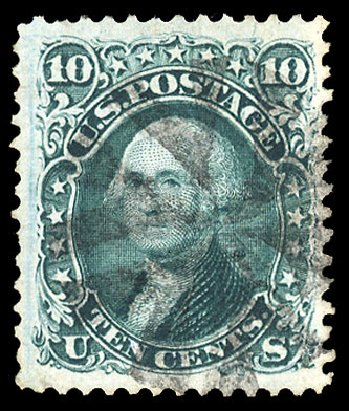 US Stamps Value Scott Cat. # 89 - 10c 1868 Washington Grill. Cherrystone Auctions, Jan 2015, Sale 201501, Lot 129