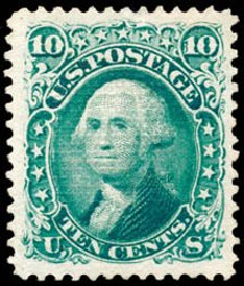 US Stamps Prices Scott Catalog # 89: 10c 1868 Washington Grill. Schuyler J. Rumsey Philatelic Auctions, Apr 2015, Sale 60, Lot 2059