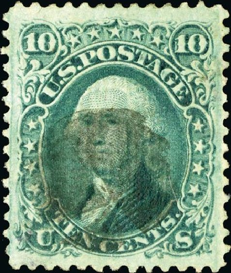 Costs of US Stamps Scott # 89: 10c 1868 Washington Grill. Spink Shreves Galleries, Jan 2015, Sale 150, Lot 89