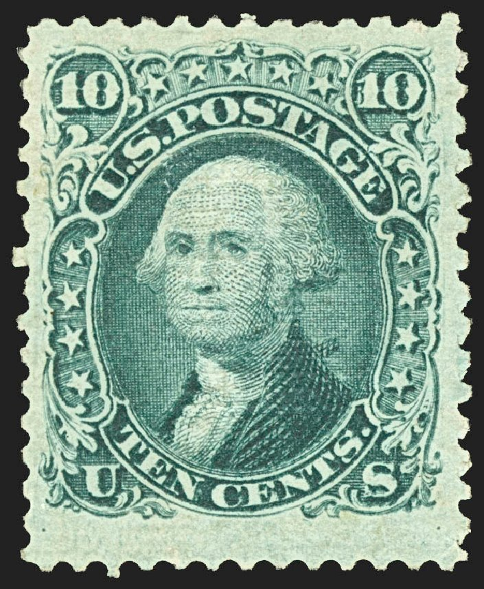 US Stamps Price Scott # 89: 1868 10c Washington Grill. Robert Siegel Auction Galleries, Jul 2015, Sale 1107, Lot 201