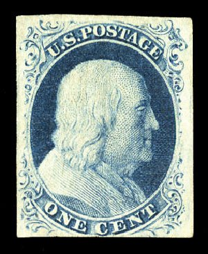 US Stamp Prices Scott Catalogue 8A: 1851 1c Franklin. Cherrystone Auctions, Jul 2015, Sale 201507, Lot 2007