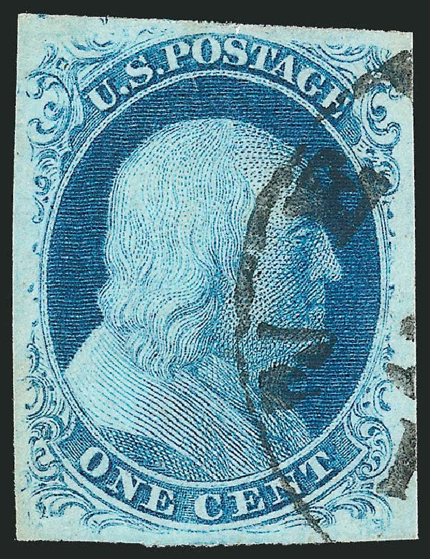 Cost of US Stamp Scott 8A: 1c 1851 Franklin. Robert Siegel Auction Galleries, Apr 2015, Sale 1096, Lot 17