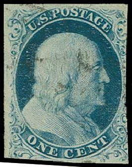 Cost of US Stamps Scott Catalog #8A - 1c 1851 Franklin. H.R. Harmer, Jun 2015, Sale 3007, Lot 3098