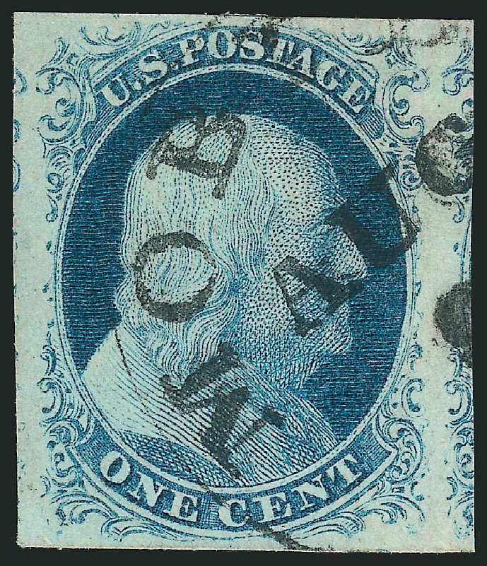 US Stamp Prices Scott # 8A - 1851 1c Franklin. Robert Siegel Auction Galleries, Jul 2015, Sale 1107, Lot 60