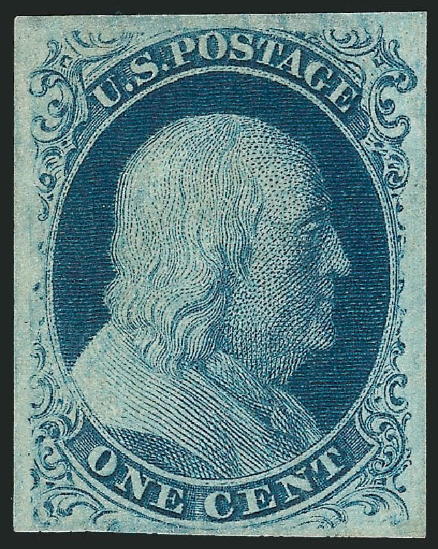 Price of US Stamps Scott Catalogue 8A - 1851 1c Franklin. Robert Siegel Auction Galleries, Jun 2015, Sale 1106, Lot 3025