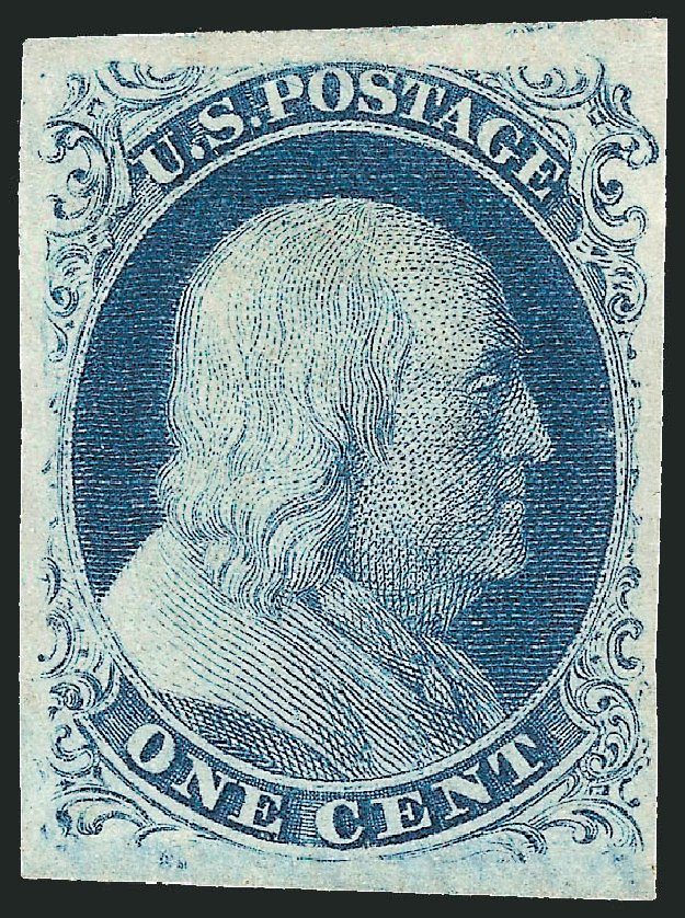 Costs of US Stamp Scott Catalogue #8A - 1c 1851 Franklin. Robert Siegel Auction Galleries, Jun 2015, Sale 1106, Lot 3026