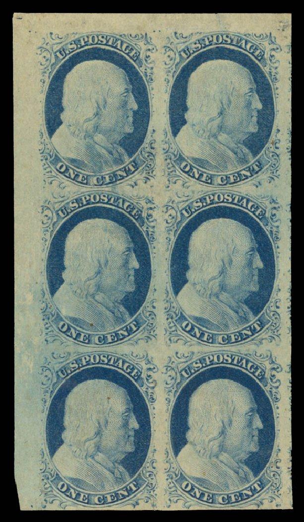 Values of US Stamp Scott Catalogue #9 - 1852 1c Franklin. Daniel Kelleher Auctions, Aug 2015, Sale 672, Lot 2137