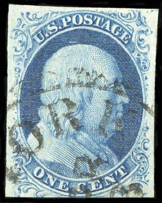 Price of US Stamps Scott Catalogue #9 - 1852 1c Franklin. Spink Shreves Galleries, Jul 2015, Sale 151, Lot 27