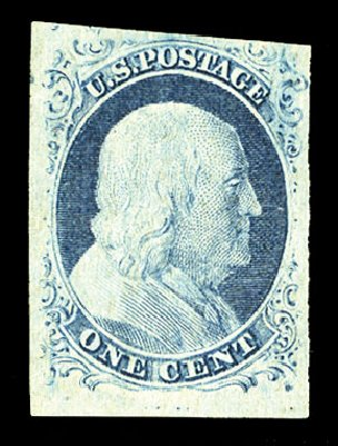 Prices of US Stamp Scott Catalogue # 9: 1c 1852 Franklin. Cherrystone Auctions, Jul 2015, Sale 201507, Lot 2008