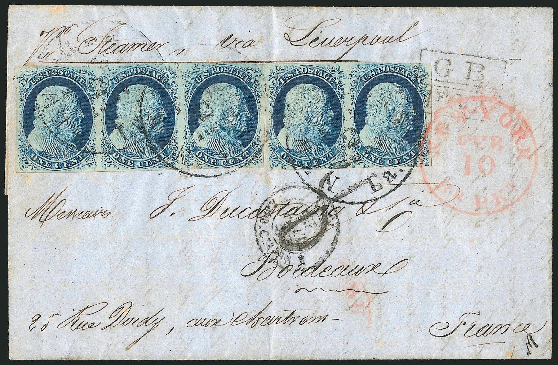 US Stamp Prices Scott Catalogue 9: 1c 1852 Franklin. Robert Siegel Auction Galleries, Jun 2015, Sale 1105, Lot 2529