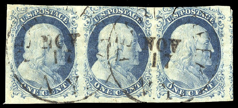 US Stamps Prices Scott Catalog # 9: 1852 1c Franklin. Cherrystone Auctions, Jul 2015, Sale 201507, Lot 10