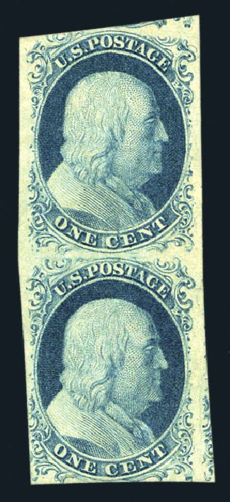 Price of US Stamp Scott Catalogue 9: 1c 1852 Franklin. Harmer-Schau Auction Galleries, Aug 2015, Sale 106, Lot 1280