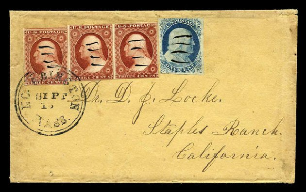 US Stamp Price Scott Catalogue # 9 - 1852 1c Franklin. Harmer-Schau Auction Galleries, Aug 2015, Sale 106, Lot 1290