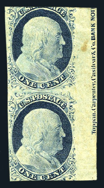 Cost of US Stamp Scott Catalog 9 - 1c 1852 Franklin. Harmer-Schau Auction Galleries, Aug 2015, Sale 106, Lot 1281
