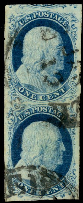 US Stamp Value Scott # 9 - 1852 1c Franklin. Daniel Kelleher Auctions, Aug 2015, Sale 672, Lot 2144