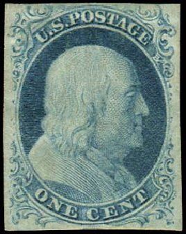 Value of US Stamps Scott Catalogue # 9: 1c 1852 Franklin. Regency-Superior, Aug 2015, Sale 112, Lot 64