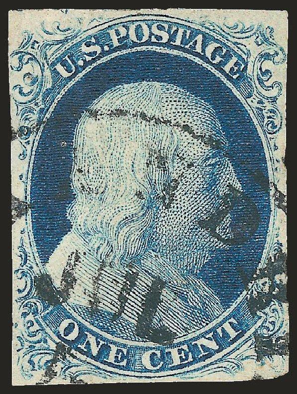 Us Stamp Value Scott 9 1852 1c Franklin