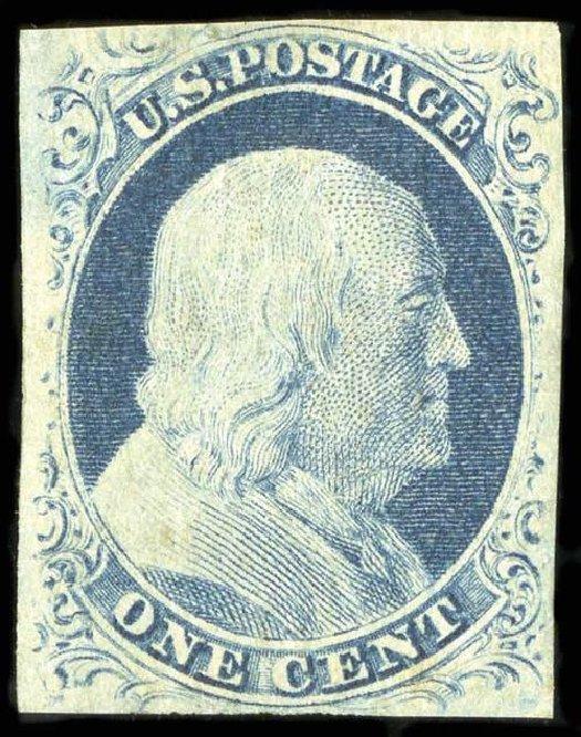 Price of US Stamps Scott Catalog 9: 1c 1852 Franklin. Spink Shreves Galleries, Jul 2015, Sale 151, Lot 25