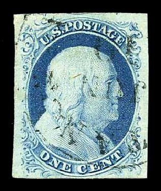Cost of US Stamps Scott Cat. #9 - 1852 1c Franklin. Harmer-Schau Auction Galleries, Aug 2015, Sale 106, Lot 1283