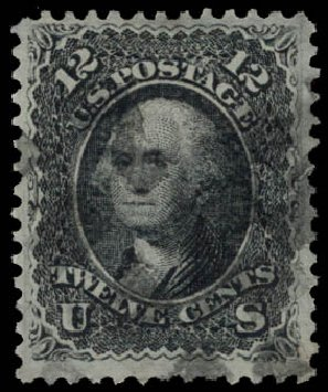 Prices of US Stamp Scott # 90 - 1868 12c Washington Grill. Daniel Kelleher Auctions, May 2015, Sale 669, Lot 2539